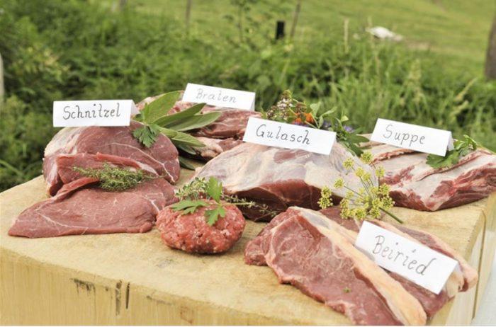 Fleisch aus der Region