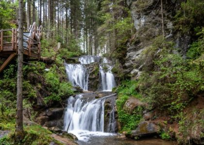 Kaskadenwasserfall Graggerschlucht